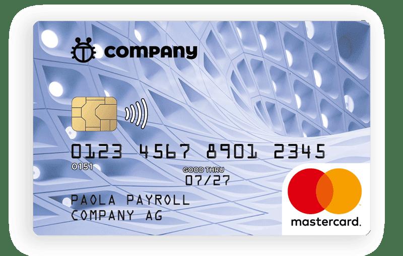 Darstellung einer Beispiel vyble® Benefit Card im Company AG Design