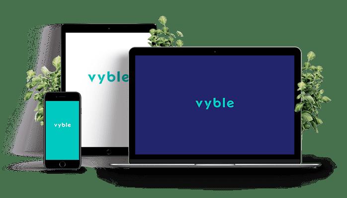 vyble® dargestellt auf verschiedenen digitalen Medien