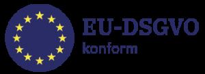 kreisförmige EU-Flagge als Symbol für die EU-DSGVO