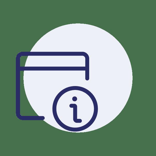 Das Kontakt-Icon für das Anfordern weiter Informationen