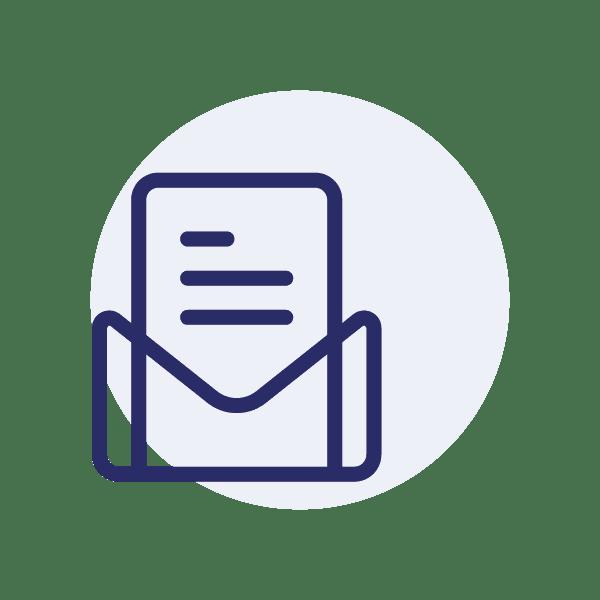 Das Kontakt-Icon für den Newsletter