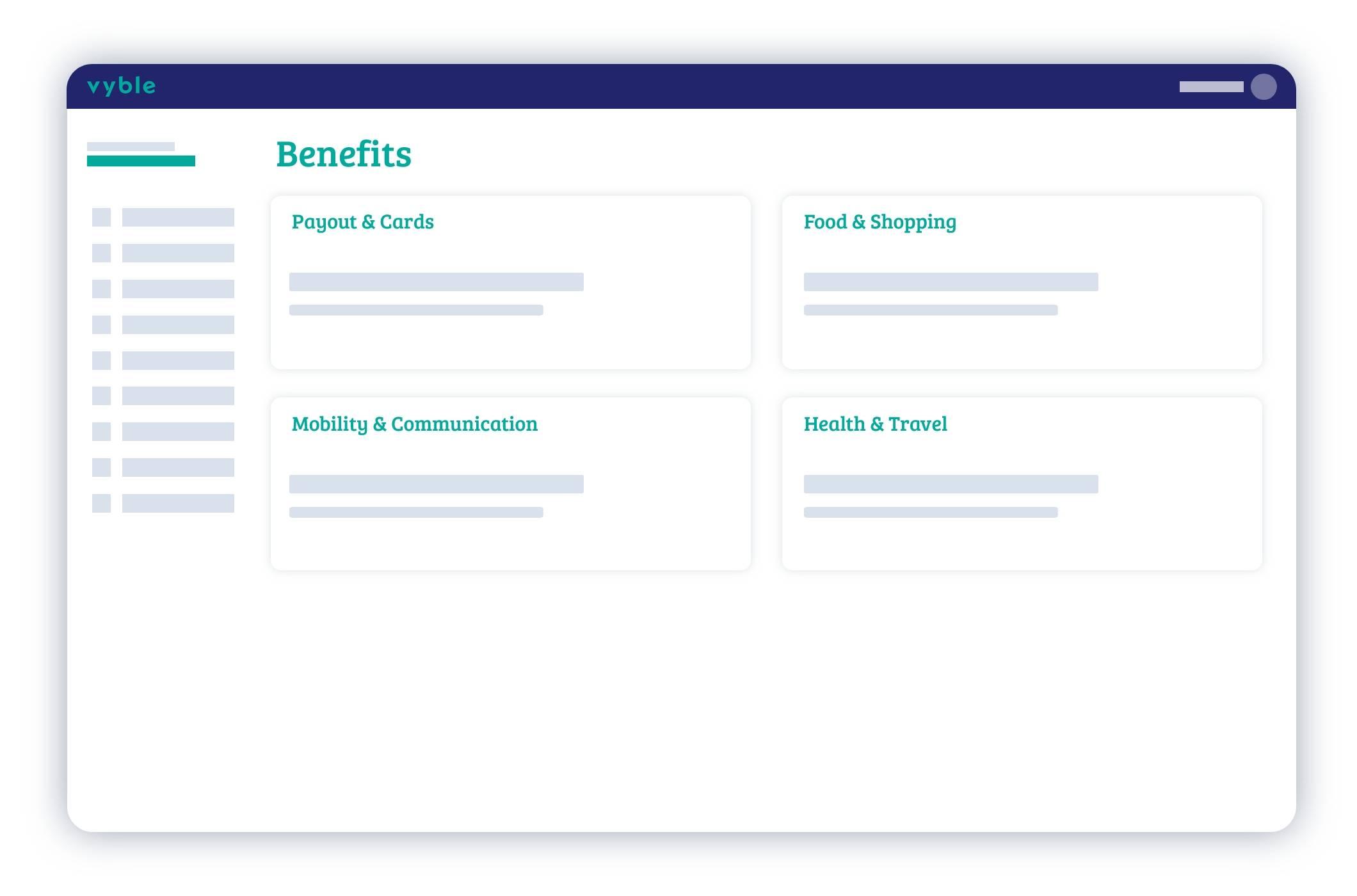 Das Bearbeitungsfenster für die einzelnen Benefits von vyble®