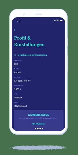 vyble® MyCard: App Mockup