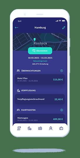 vyble® MyExpenses: Reisekostenabrechnung App