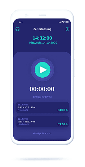 vyble® MyTime: mobile Zeiterfassung