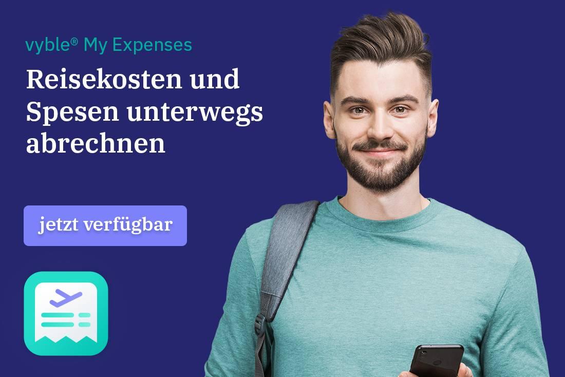 Spesenabrechnung mit der vyble® My Expenses App