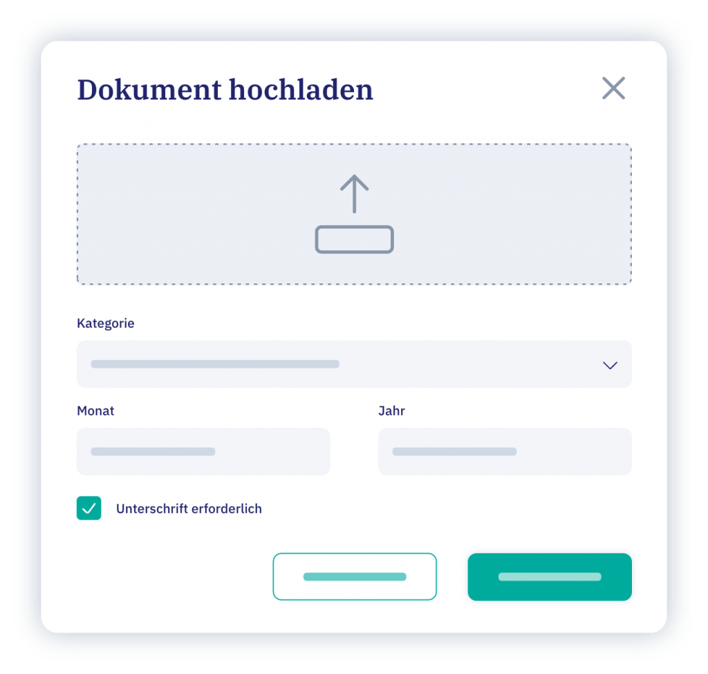 vyble® Mockup: Dokumentenmanagement