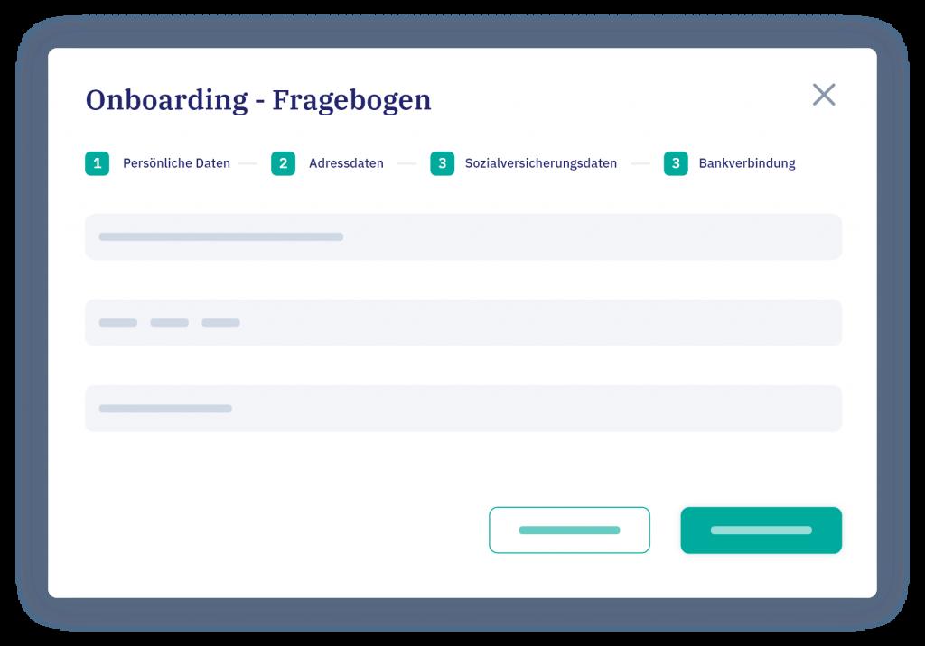 vyble® Mockup: Onboarding - Fragebogen