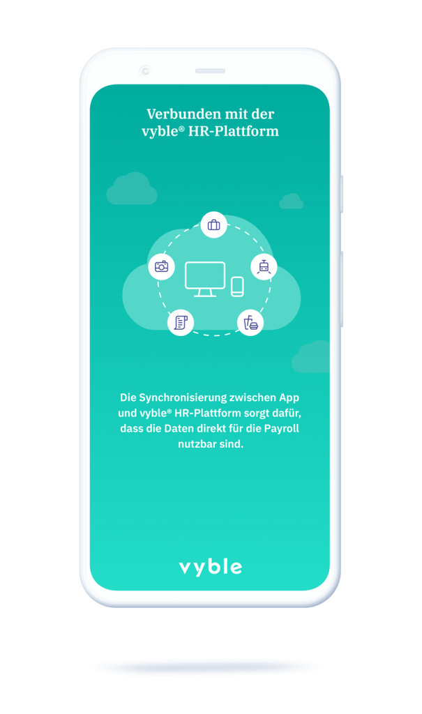 vyble® MyExpenses App: Payroll integrationMockup