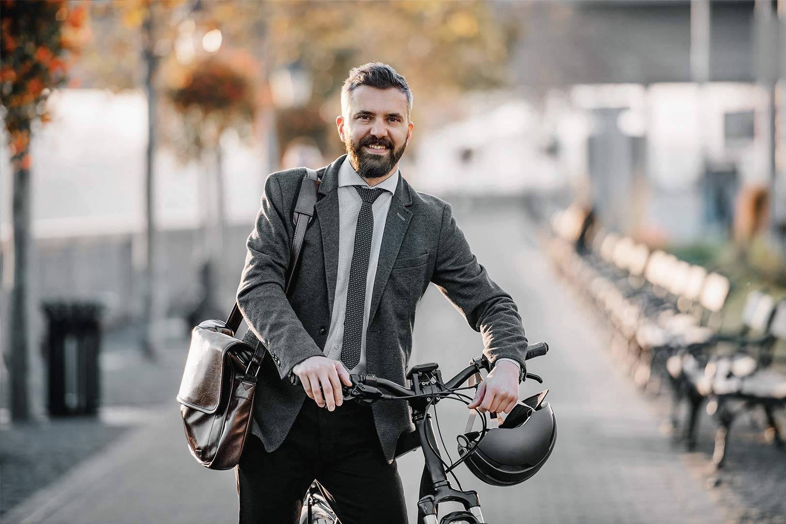 Man with job-bike