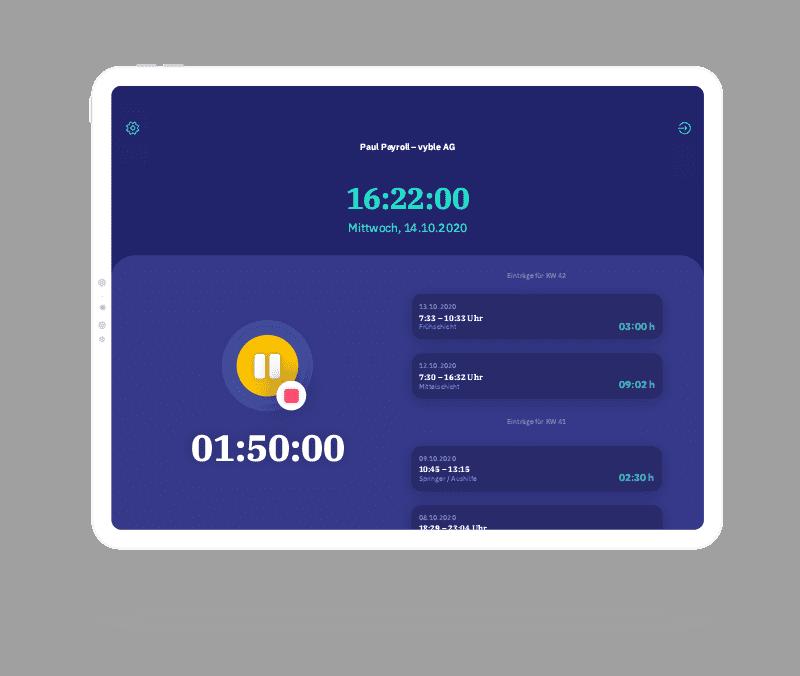 vyble® MyTime App: Timer pausieren Mockup