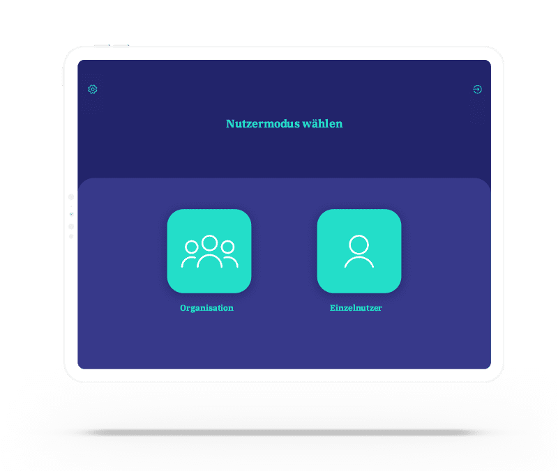 vyble® MyTime App: Nutzerrolle Mockup